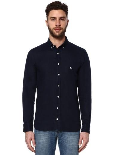 %100 Keten Uzun Kollu Gömlek-Etro